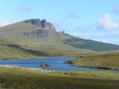 The Storr and the Old Man of Storr over Loch Fada (© Norrie Adamson)