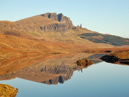 Reflection of The Storr and Old Man of Storr on Loch Fada (© John Allan)