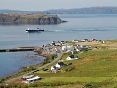 Uig Bay and ferry terminal (© John Allan)